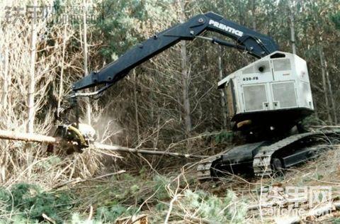 没见过的伐木机,很强悍。