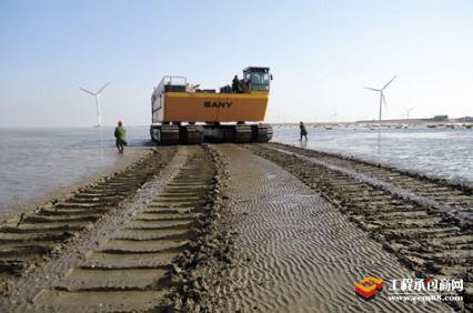 三一重工新设备:潮间带风电施工专用装备滩涂运输车