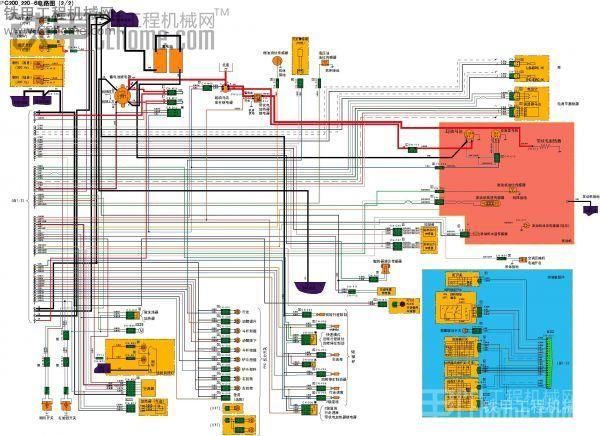 求购一份小松200-6的电路图(要彩色清晰版的)