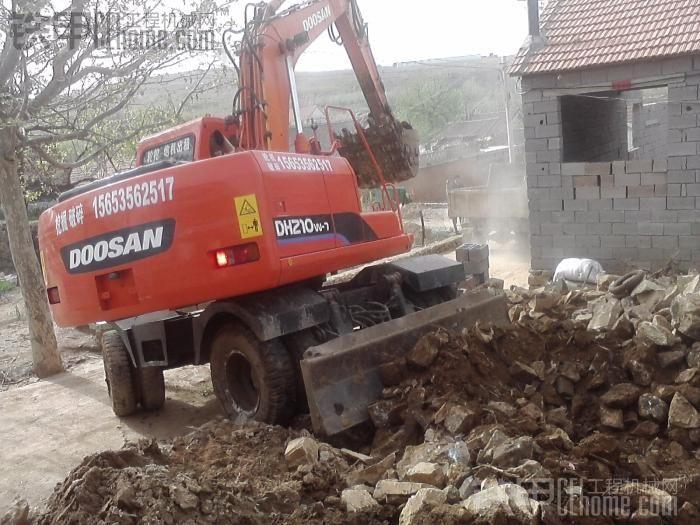 秀秀我开的斗山150轮挖