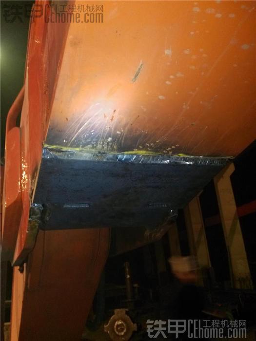 坑爹的斗山370-7大臂头,断裂多次的焊接过程,请高手指导
