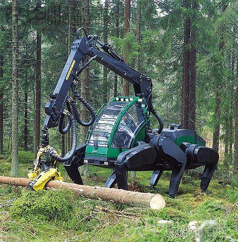 特种设备:林业专用的越野式蜘蛛挖掘机