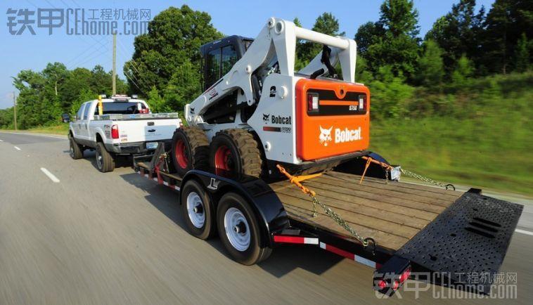 山猫涂装雪佛兰皮卡滑移运输车。S205滑移装载机运输,对比GEHL涂装 第二贴