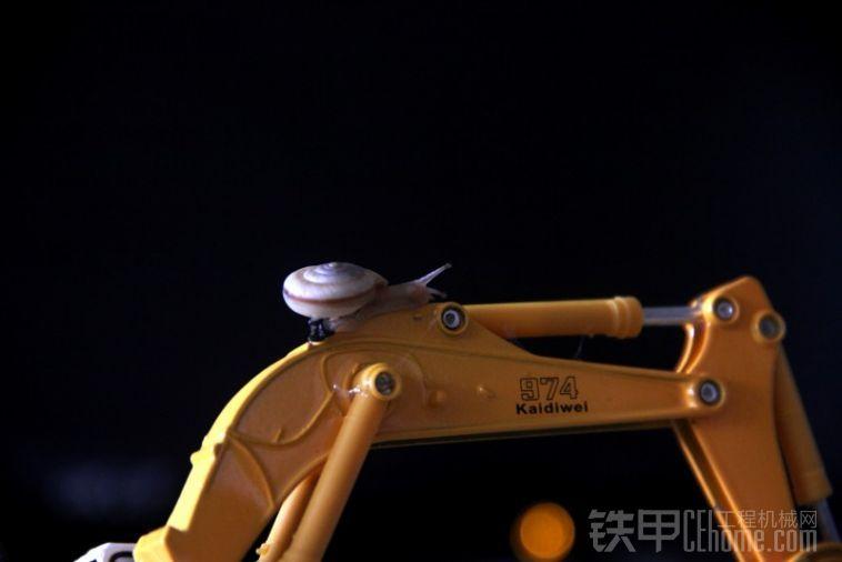 挖掘机与蜗牛,刚柔结合!