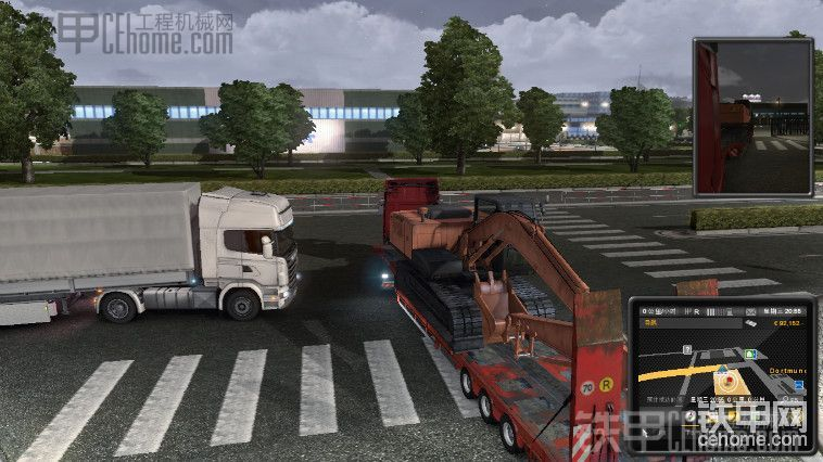 欧洲卡车2游戏里的日立ZX240挖掘机-帖子图片