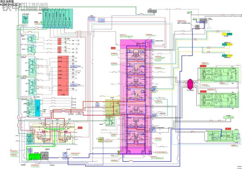 小松200-6、200-7液压油路图