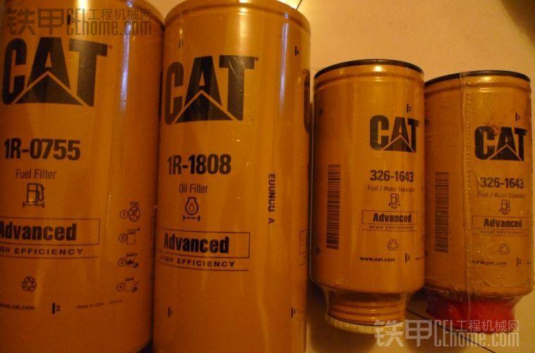 CAT336D 345D 365D保养件滤清一套 空滤机滤柴滤回油滤 通用油水分离器 履带胶 滤油机