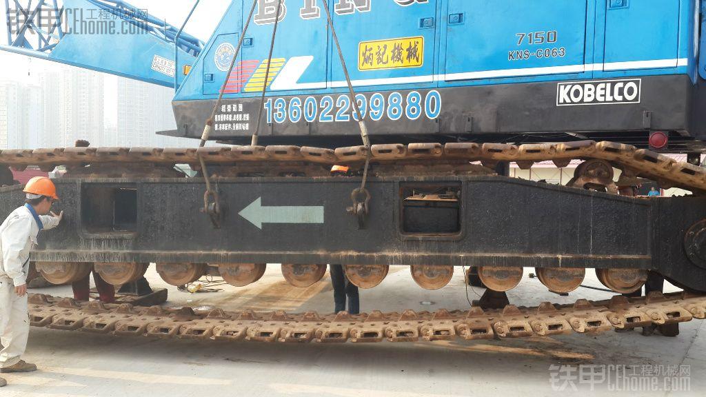老款神钢150吨履带吊机安装