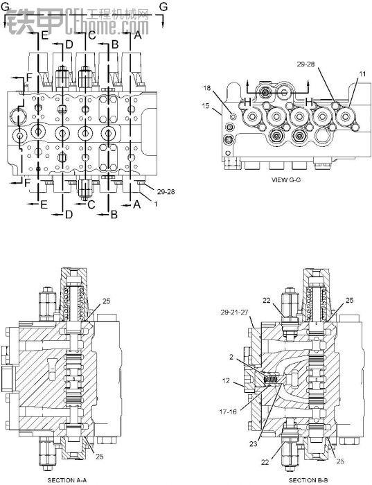 卡特336d分配阀修理包的出品过程图片