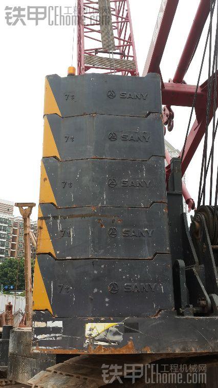 三一SCC2000履带吊机 工地起吊钢筋网片杂图