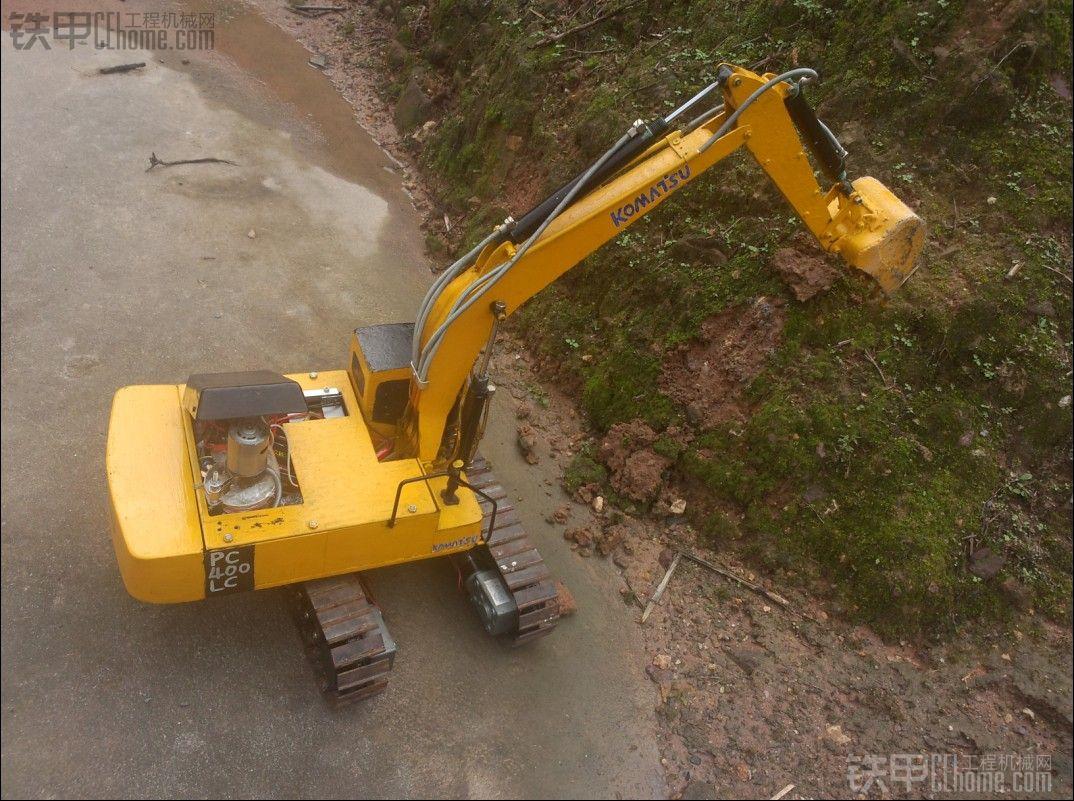 自制遥控液压挖掘机模型—小松pc400图片