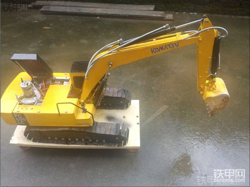 自制遥控液压挖掘机模型—小松pc400
