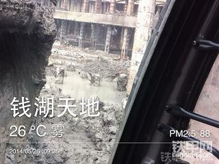 【施工作业】日立ZX120-6挖掘机,地下车库作业