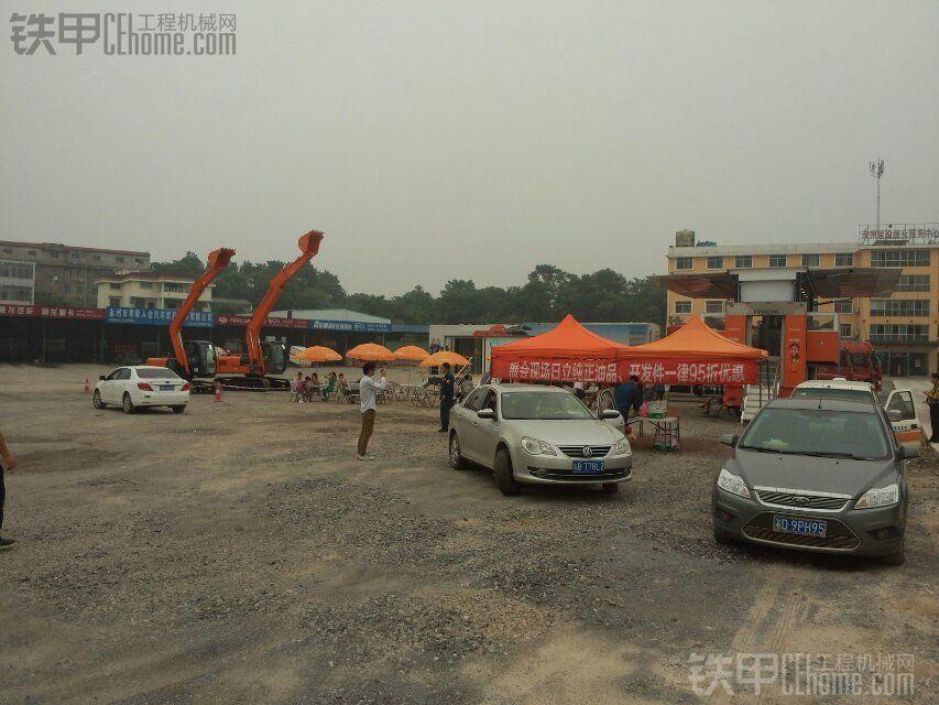 日立挖机全国巡回演出湖南永州站。里面亮点