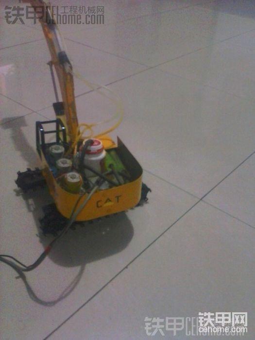 自制挖掘机  终于搞定了