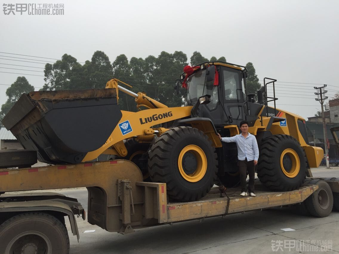 老啝--粤东地区首台柳工CLG856H,国内首台带铁甲车贴的856H