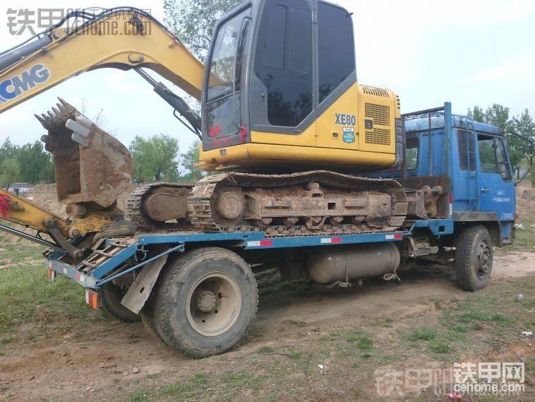 一汽8.3米車斗改4.3米拉挖機-帖子圖片
