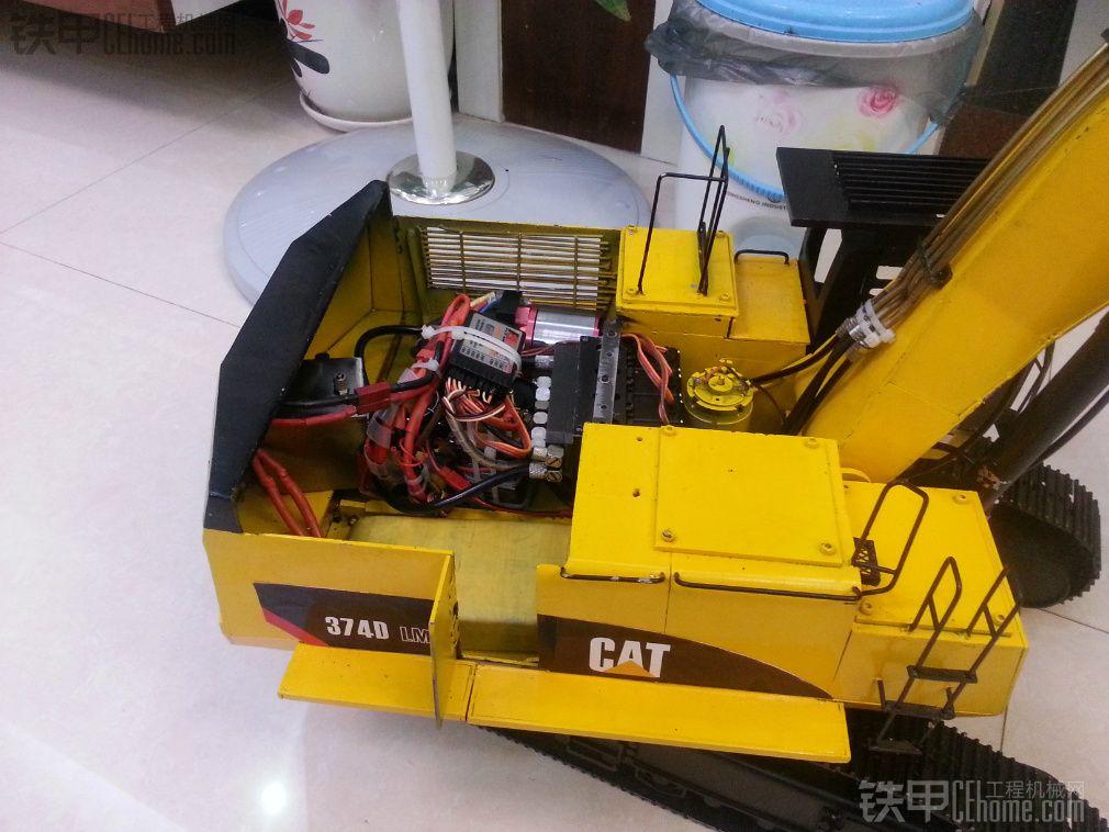 手工制作卡特彼勒374d液压模型挖掘机!多图!