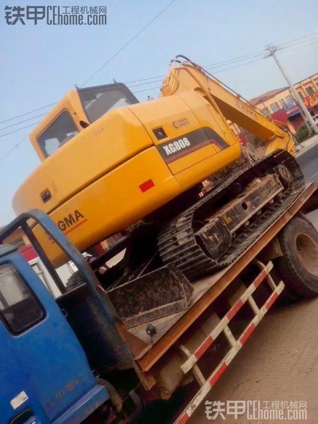 老板新提厦工XG808挖掘机