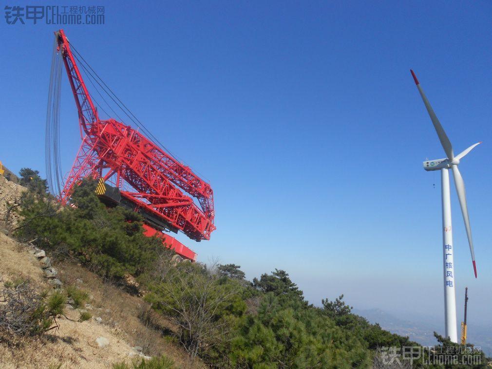 山地风电吊装利器,山巅上的变形金刚!