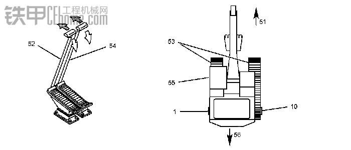 行驶液压系统原理  行驶速度可通过行驶操纵杆