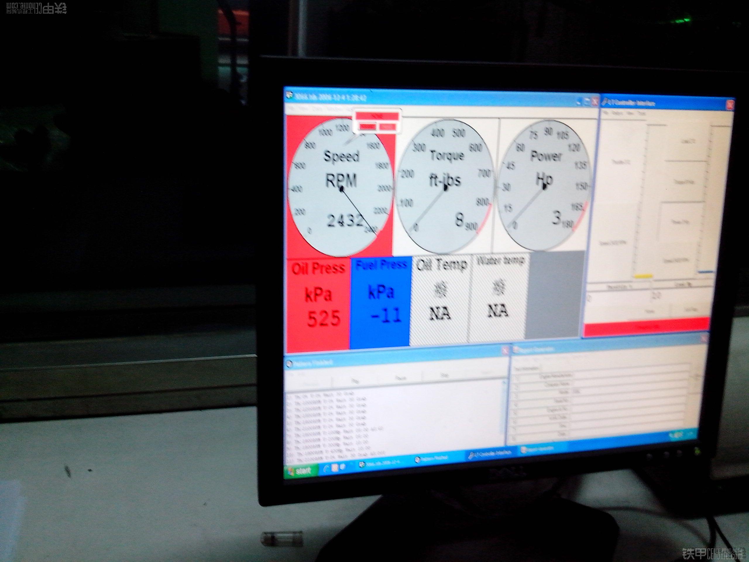 台架测试确认机器功率不足的结果--一台严重憋机问题的判断