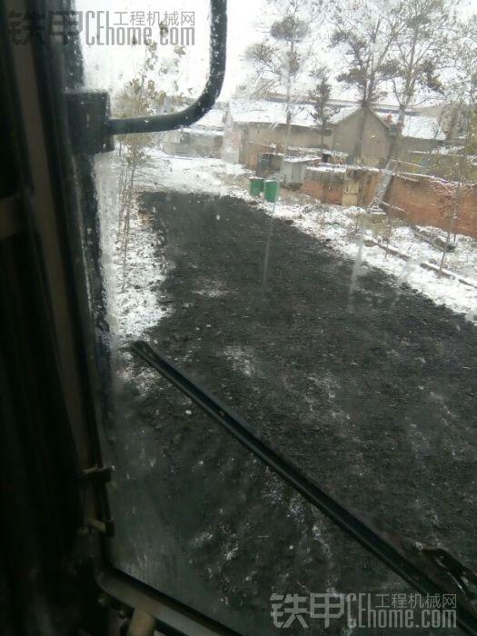 下雪还在干