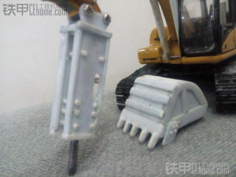 手工制作模型破碎锤挖斗