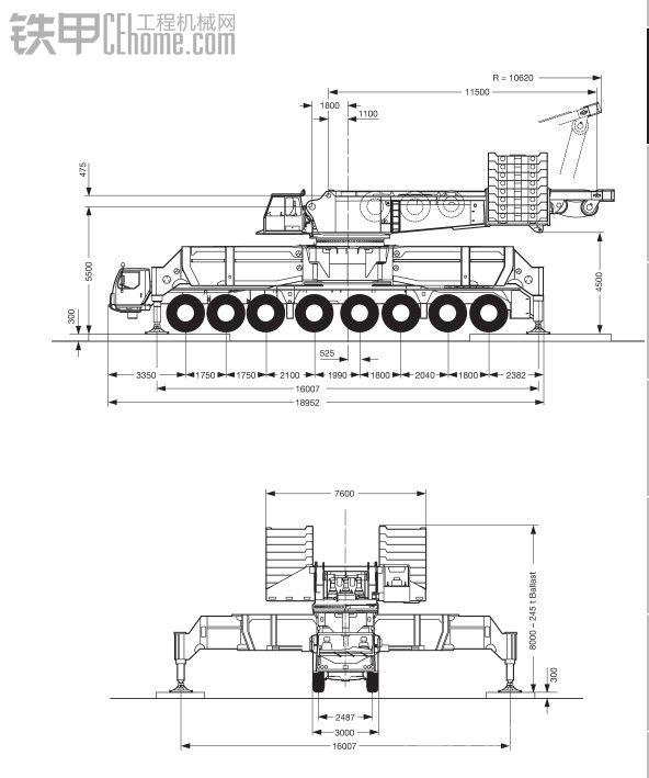 工业巨吊----利勃海尔LG 1750