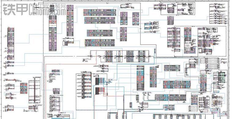 卡特312D挖土机整机中文电路图纸分享