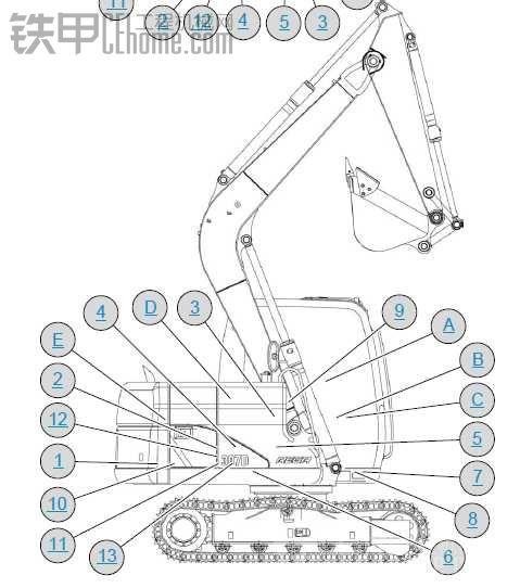 卡特307D中文版本电路图纸
