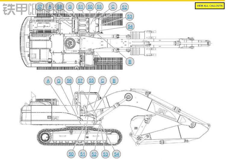 卡特330D/336D挖土机电气图纸中文版
