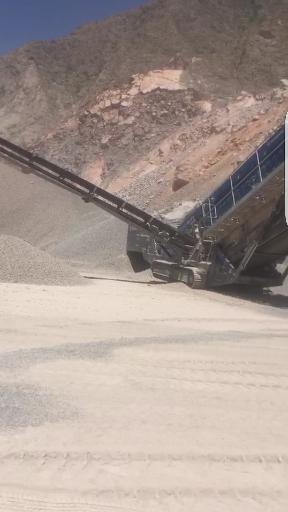 挖友看过来 这种移动碎石设备谁见过