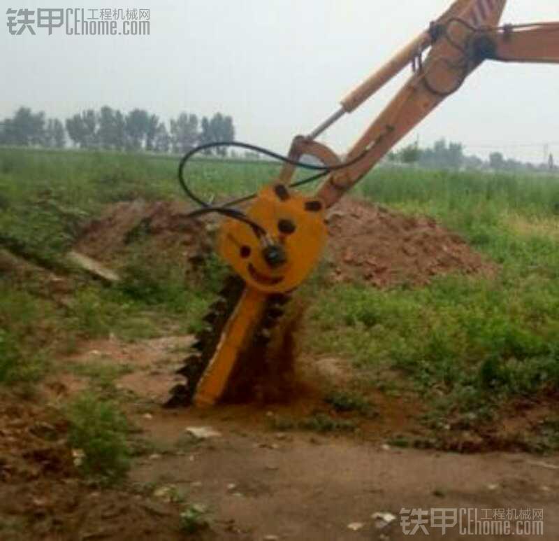 挖机安装开沟机头有使用过得吗,急支招!!!