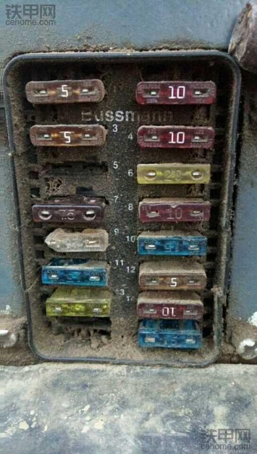 求图解,徐工60小挖机保险盒编号铭牌