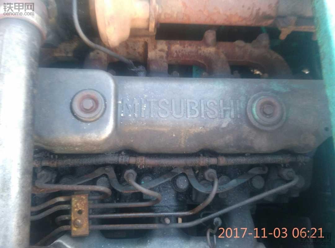 o那有6D34旧发动机。增压不带中冷,进气口在中部的