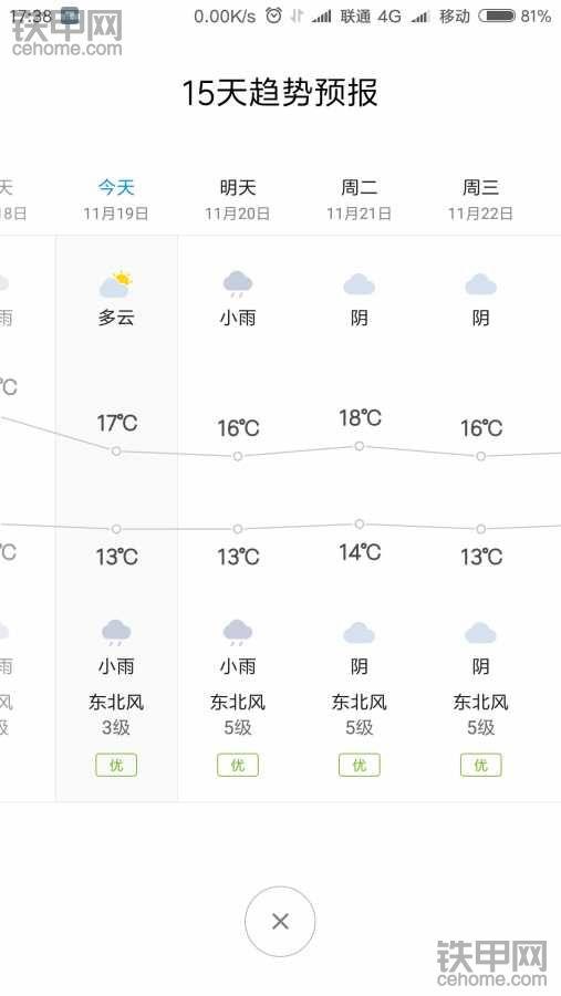 昨天还短袖,今天这天气