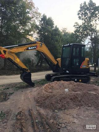 三一SY55C-10挖掘机,新车80小时吐槽报告