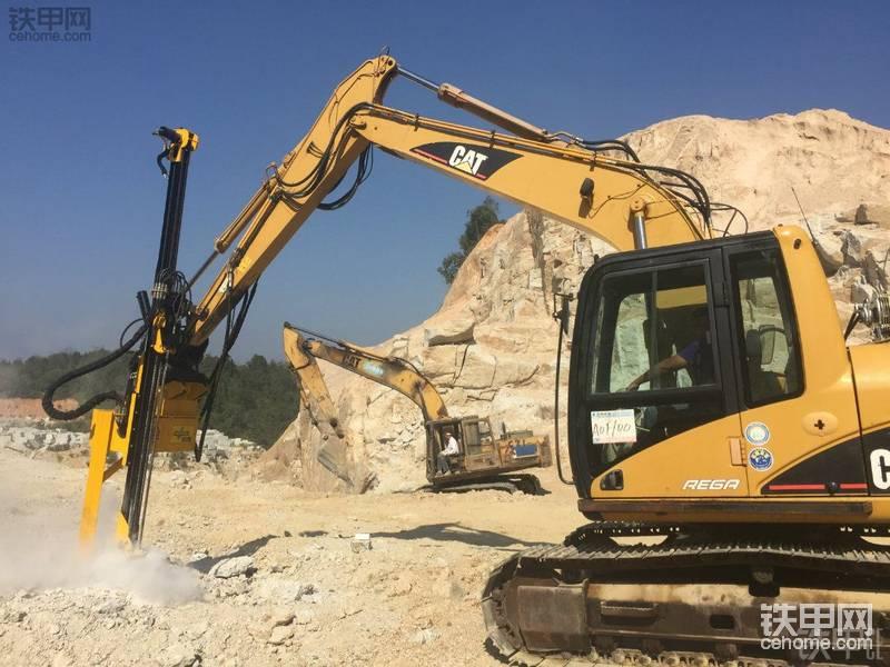 挖掘机改钻机