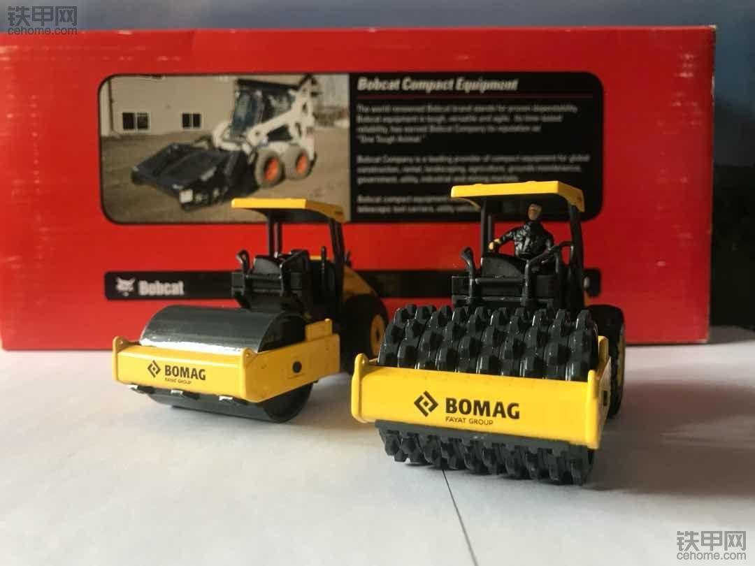 机械小白模型梦(2) 亲兄弟齐上阵 宝马格BOMAG BW211压路机模型实拍