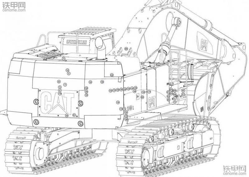 卡特374D挖機中文電路圖紙分享-帖子圖片