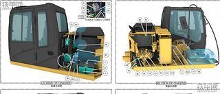卡特312D2 GC挖机中文电路图纸分享