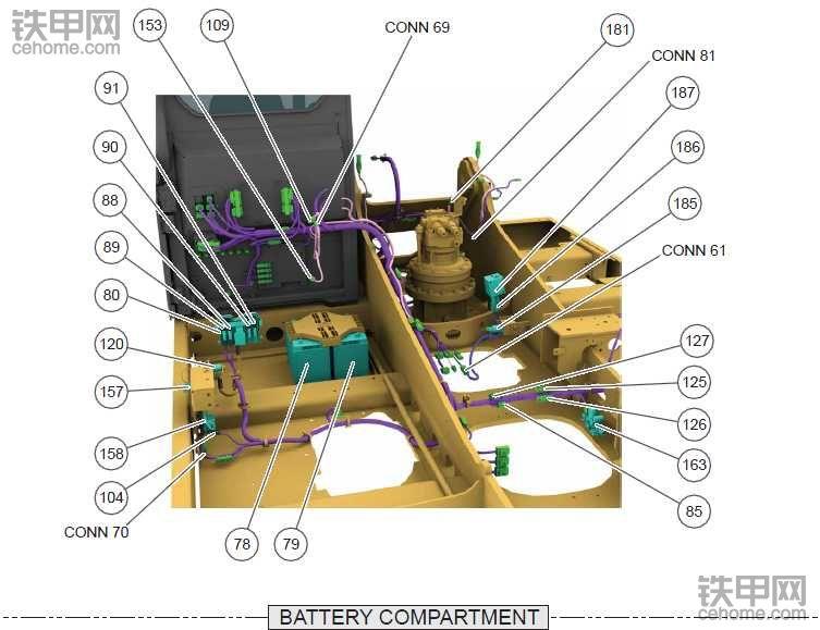 卡特最新款320GC挖机电路图纸