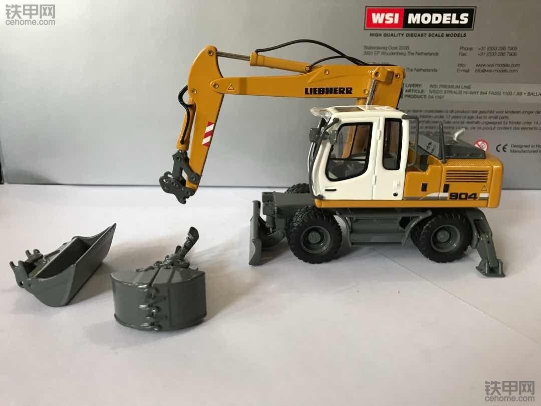 机械小白玩模型(6) 性价比超高 ¥150元可入手的利勃海尔A904C轮挖模型