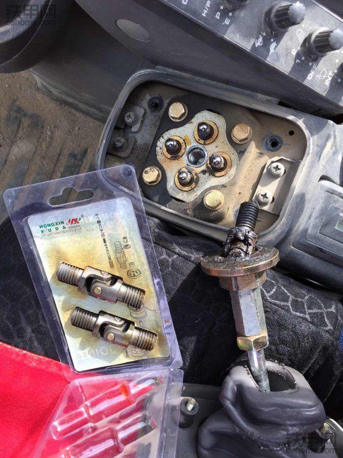 DIY更换挖机手柄万向节!想起了一个小故事!
