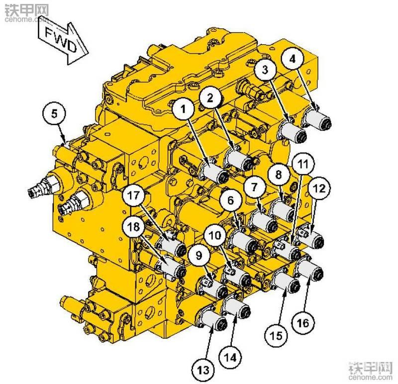 卡特390F挖机主控制阀标定步骤