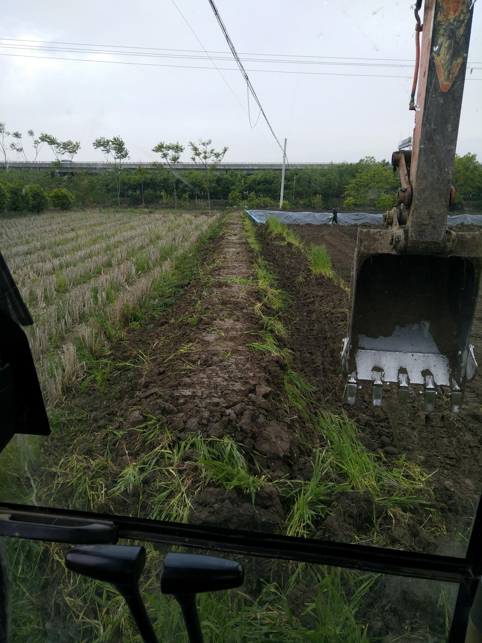我修螃蟹塘过程分享:足足7亩田,花费了23小时!