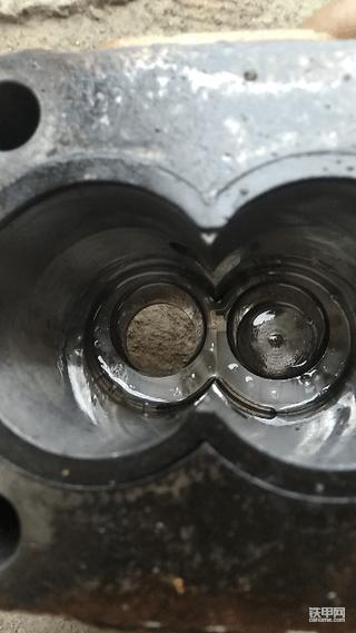 高手们帮忙看下底部有油封没有,卡特305.5齿轮泵