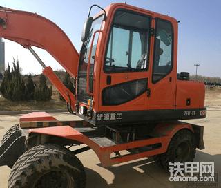 新源75W轮式挖掘机使用报告