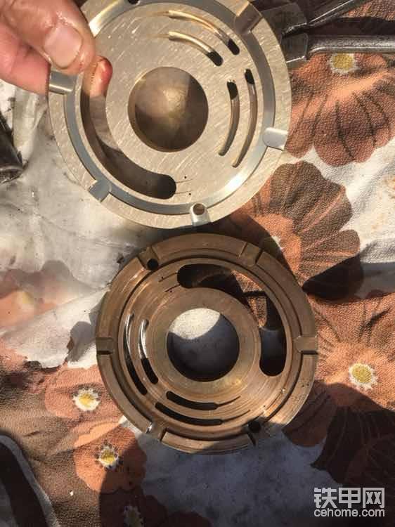 配油盘直接换新的(全新的配油盘和泵胆也需要用研磨砂研磨一下,保证平面完全贴合)越平效果越好😊